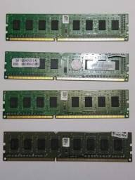 Usado 4 Unidades Memória RAM 8gb 4x 2gb 1333 MHz DDR3 Itautec Desktop