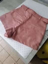 Título do anúncio: Short de napa rosa Tam. P