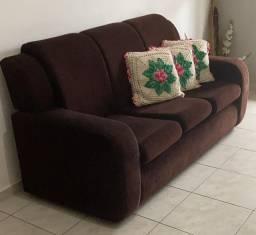 Sofá de pano de 3 e 2 lugares