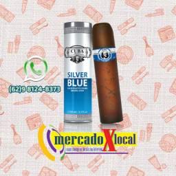 Perfume Cuba Masculino 100mls: Silver Blue
