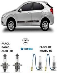 Kit de Lâmpada Tech One Farol Alto Baixo e Milha Jac j3