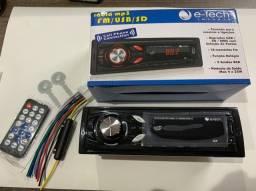 Rádio com bluetooth E Tech