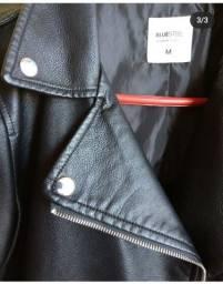 Jaqueta couro sintético courino