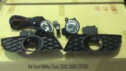 Farol Milha Honda Civic 2012 2013 2014 2015 2016 Kit Completo