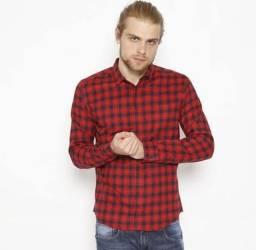 Camisa Xadrez Vermelha & Preta Sommer