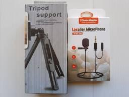 suporte para celular + microfone lapela