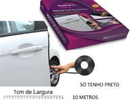 Borracha Protetora Borda Porta Universal Preta Embalagem Fechada com 10 Metros