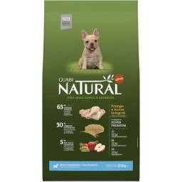 20kg Ração Guabi Natural Cães Filhotes Raças Pequenas - Sabor Frango e Arroz Integral