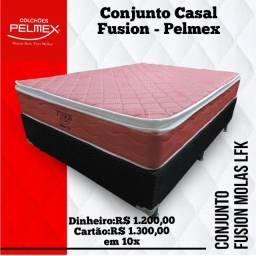 Entrega grátis de Conjunto Casal com Molas Fusion Pelmex