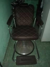 Cadeira de salão reclinável de couro