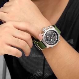 Relógio Masculino Militar Golden Hour Novoo