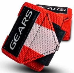 Munhequeira Crossfit Gears Vermelha