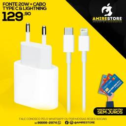 Carregador iphone kit tipo c