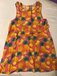 Título do anúncio: Vestido abacaxi TIP TOP 3anos