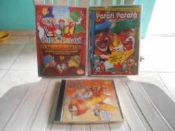 Conjunto de dvds e cd
