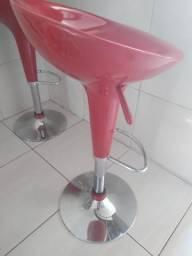 Usado, Banquetas na cor vermelha comprar usado  Maceió