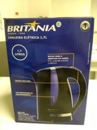 Chaleira elétrica, Britânia, voltagem 110, produto novo, na caixa.