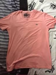 Camisa Lacoste cor salmão