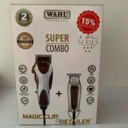 Combo Magic Clip 110v+ Detailer Wahl Cliper T-wide Bivolt em 3x S/juros