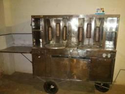 Vendo carrinho de churrasco grego duplo, oportunidade de negócio