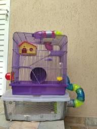 Gaiola hamster 3 andares + caixa box acoplada