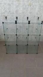 Balcão de vidro 9 nichos