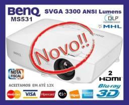 Projetor BenQ MS531 DLp XGA 3300 ANSi Lumens, Blu-Ray 3D, USB, 2 Hdmi, Caixa, Gar, Troco!
