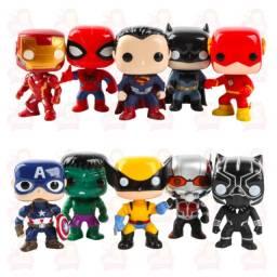 Funko pop com 10 personagens incluso o Thanos