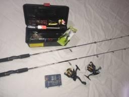 Kit de pesca 2 vara 2 molinete