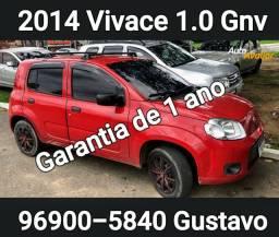 Vivace 1.0 2014 Gnv Baixa Km Garantia de 1 ano
