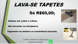 Lava-se tapetes por R$60,00