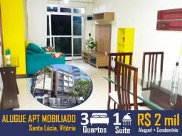 Apartamento mobiliado 3Qts 1St em Santa Lúcia