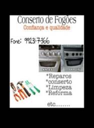 Serviços em fogões