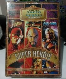 Box dvd Super Heróis filme. He-man, The Flash, Flash Gordon. Marvel. Cinema