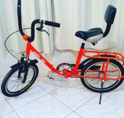 Bicicleta monareta dobrável.