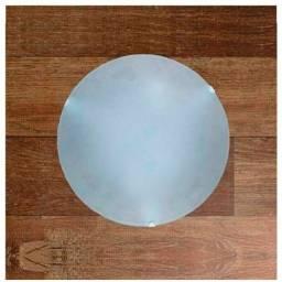 Luminaria Paflon redondo vidro fosco Taschibra