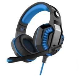 Headset Gamer Fone Ouvido Azul Ej 902