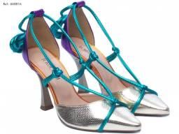 Sapato Scarpin Feminino Metalizado