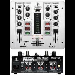 Mixer Behringer VMX 100 prata novíssimo!!!