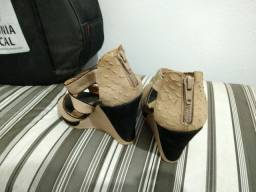 Sapato Plataforma Camurça