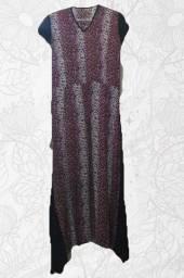 Vestido longo de viscose