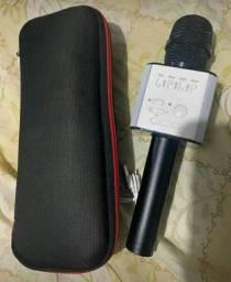 Microfone Bluotuth karaokê