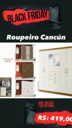 Guarda roupa roupeiro Cancún promoção