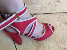 Sandália Vermelha santa lolla