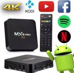 Tv box mxq 4k pro original filmes séries futebol instalamos entregamos