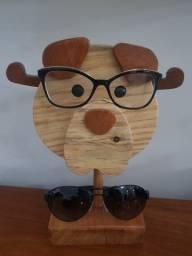 Suporte para óculos de madeira