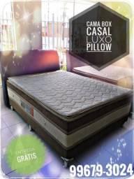 Cama cama cama cama cama cama cama box casal com pillow top entrega imediata