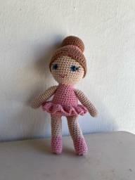 Boneca de luxo bailarina-Crochê