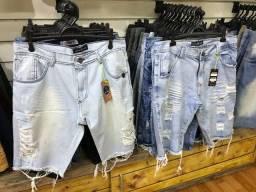 Bermuda Jeans R$ 49,99 cada