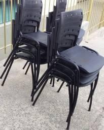 Cadeiras Cor Preta Iso Polipropileno Novas